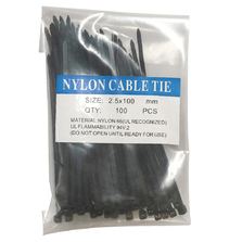 2.5mm X 100mm Cable Ties Black 100 Bags
