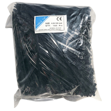 4.8mm X 180mm Cable Ties, Bags Of 1,000 Pieces - Black