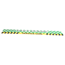Service Line Floor Decal Green