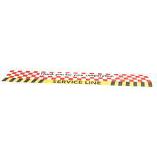 Service Line Floor Decal Red