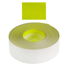 Removable 23x16mm Fluoro Yellow Labels