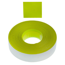 Permanent 16x18mm Fluoro Yellow Tamper Proof  Labels